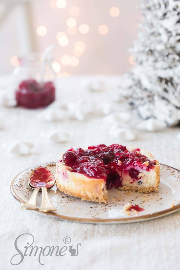 glutenvrije cranberry cheesecake