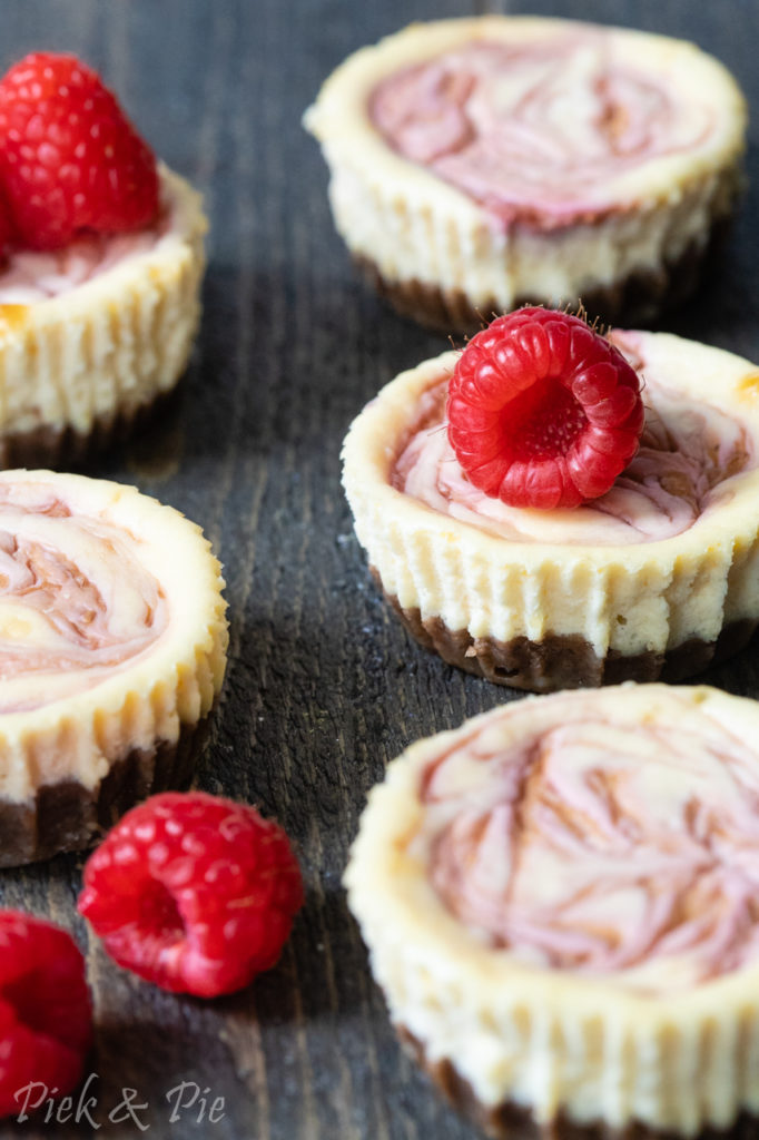 mini cheesecakes met frambozen